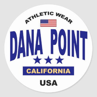 Dana Point California Round Sticker