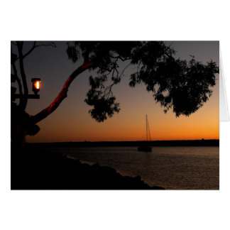 Dana Point Harbor Sunset Card