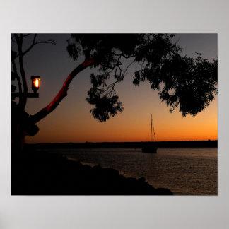 Dana Point Harbor Sunset Poster