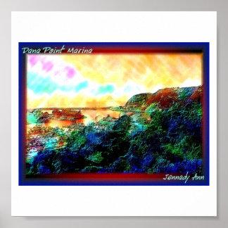 Dana Point Marina watercolor Poster