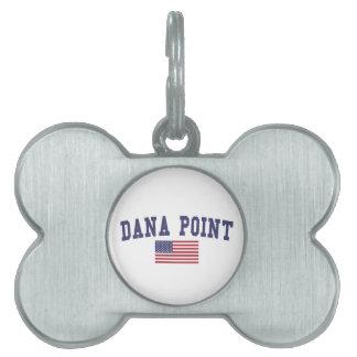 Dana Point US Flag Pet ID Tag