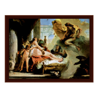 Danae And Zeus By Tiepolo Giovanni Battista Postcard