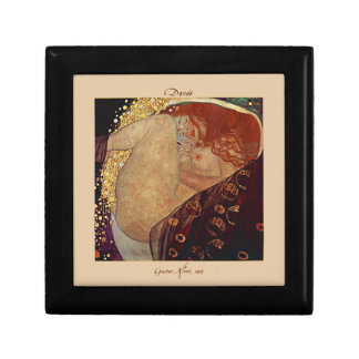 Danaë by Gustav Klimt Tiled Lacquered Box