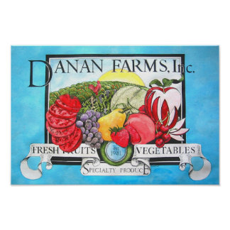 DANAN FARMS PAINTING POSTER