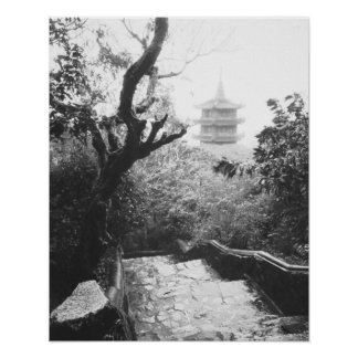 Danang Vietnam, Temple View Marble Mountain Poster