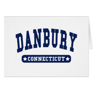Danbury Connecticut College Style tee shirts Card