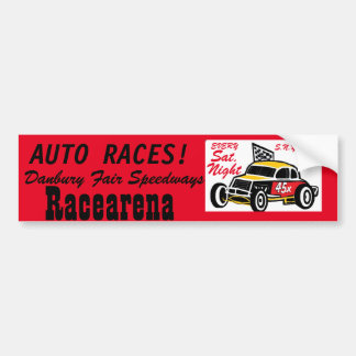 Danbury Fair Speedways Racearena Bumper Sticker
