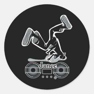 DANCE2 CLASSIC ROUND STICKER
