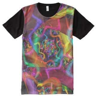 Dance 2 Psychedelic Abstract Fine Fractal All-Over-Print T-Shirt
