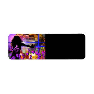 dance-366568 dance music treble clef sound concer custom return address labels