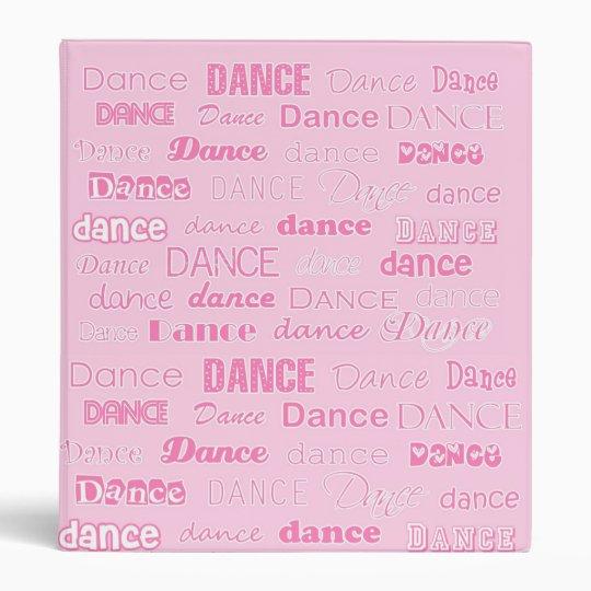 Dance 3 Ring Binder Notebook