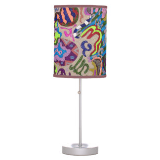 """Dance"" Abstract Art Table Lamp"