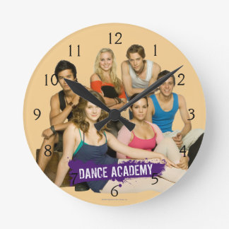 Dance Academy Cast Round Clock