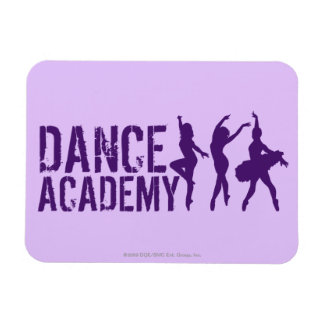 Dance Acadmey Dancer Silhouettes Logo Rectangular Photo Magnet