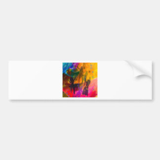 Dance and party bumper sticker