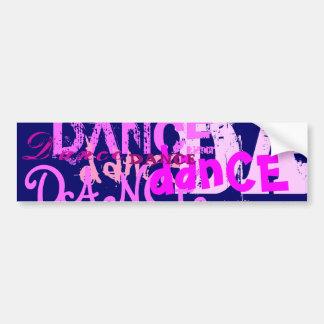 Dance Art In Pink Bumper Sticker