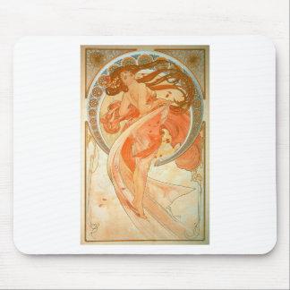 """""""Dance"""" -  Art Nouveau - Alphonse Mucha Mouse Pad"""