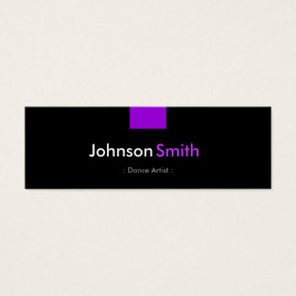 Dance Artist - Violet Purple Compact Mini Business Card
