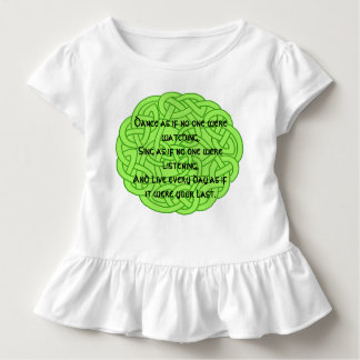 Dance as if no one were watching toddler t-shirt