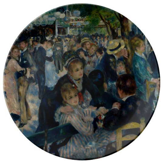 Dance at Le Moulin de la Galette by Renoir Porcelain Plates