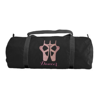 Dance Bag Personalized w/ Ballet Shoe in Rose Gold