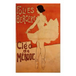 Dance Ballerina Art Nouveau Ballet Dancer Print