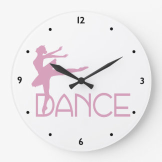 Dance Ballerina Large Clock