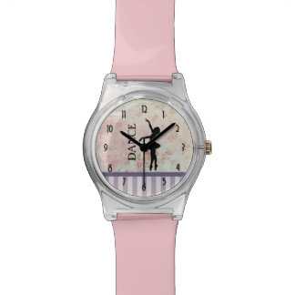 Dance - Ballerina Silhouette on Vintage Background Watch