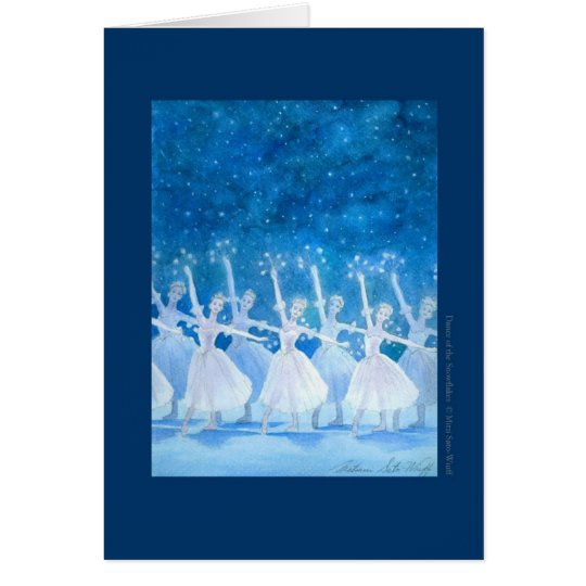 Dance ballet greeting card of spirit of snow