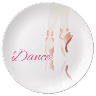 Dance Ballet Slippers Plate
