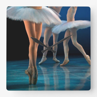 Dance Ballet Square Wall Clock