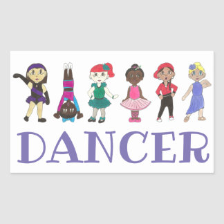 DANCE Ballet Tap Jazz Acro Hip Hop Lyrical Dancers Sticker