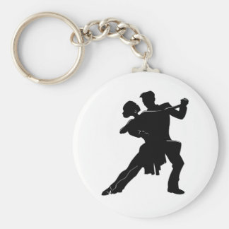Dance Basic Round Button Keychain