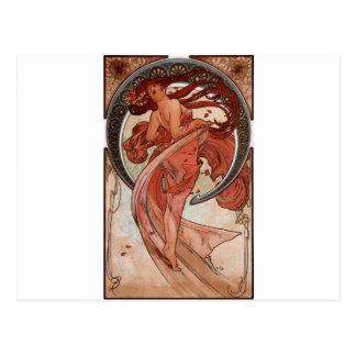 Dance by Alphonse Mucha Postcard