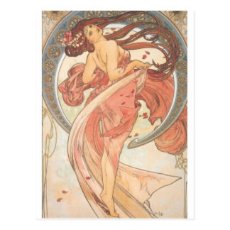 Dance by Mucha Postcards