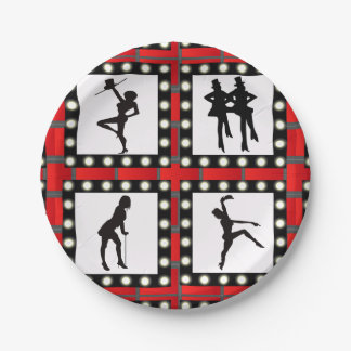 Dance Cabaret Showgirls Dancing 7 Inch Paper Plate
