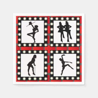 Dance Cabaret Showgirls Dancing Disposable Napkins