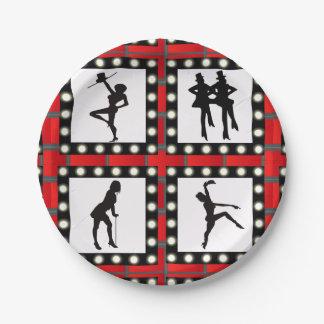 Dance Cabaret Showgirls Dancing Paper Plate