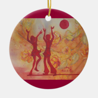 Dance Ceramic Ornament