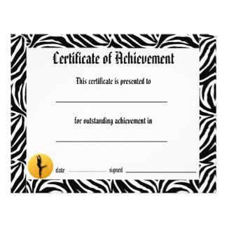 Dance Certificate of Achievement -Zebra Lyrical Flyer