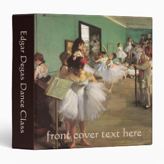Dance Class by Degas, Vintage Impressionism Ballet 3 Ring Binder