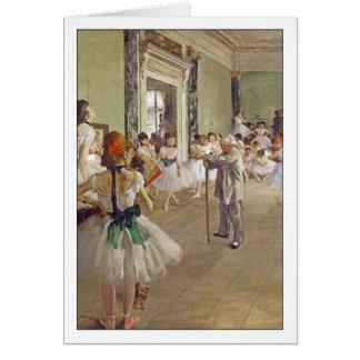 Dance Class by Edgar Degas Card