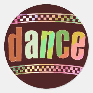 Dance Classic Round Sticker