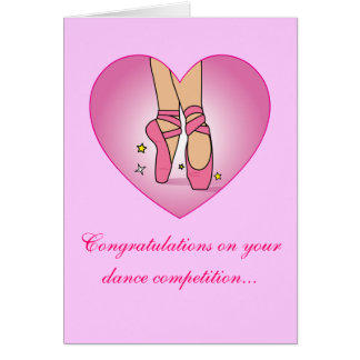 Dance Competition Congratulations Card