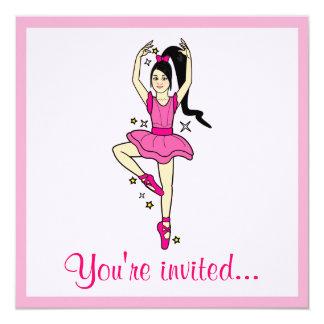 """Dance Competition Invitation: Dancer with Stars 5.25"""" Square Invitation Card"""