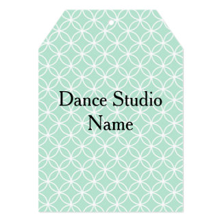 Dance Costume Hang Tags in Mint Card