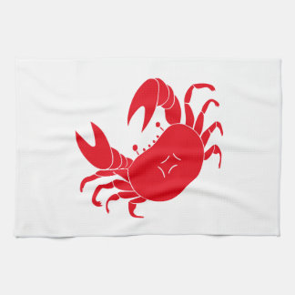 Dance crab kitchen towel