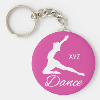 DANCE custom monogram & color key chains