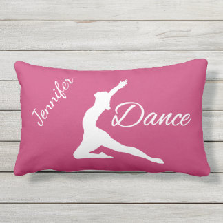 DANCE custom name & color throw pillow