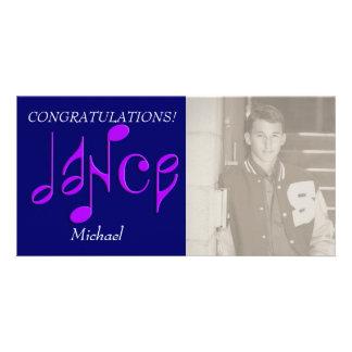 dance customized photo card